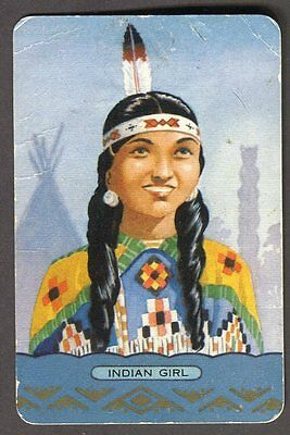 Vintage Coles Swap Card - Indian Girl *FREE POSTAGE*