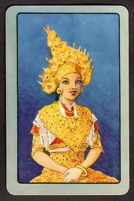 Vintage Coles Swap Card - Girl in Gold *FREE POSTAGE*
