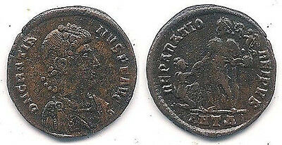 Gratian Ancient Coin AE 2, 367-383 AD, in Excellant Condition ~