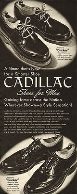 1940s vintage ad for Cadillac Men's Shoes   -050512