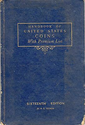 1959 Handbook Of U.s. Coins Blue Boopk 16Th Edition
