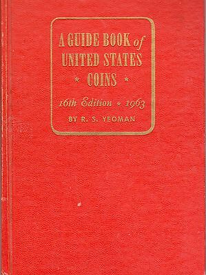 1963 Guide Book Of U.s. Coins Red Book 16Th Edition