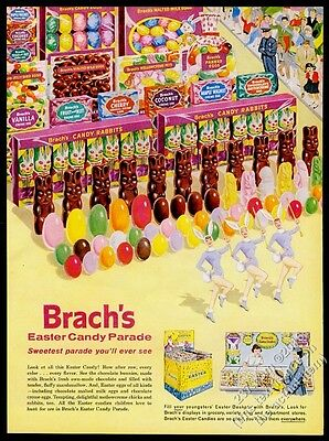 1960 Brach's Easter candy chocolate rabbit bunny parade vintage print ad