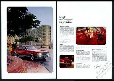 1977 Cadillac Seville red car color photo vintage print ad