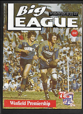Big League 1982 NRL Rugby 31st August - Free Postage