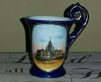 Providence Ri Victorian Hand Painted State Capitol Souvenir Cup Dresden