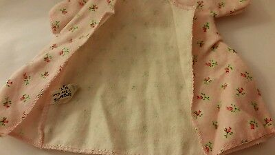 vintage Cosmopolitan Ginger Doll Clothes ~ rose bud pink PRINT ROBE  ~Tagged~