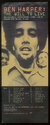 1998 Ben Harper photo The Will to Live vintage print ad