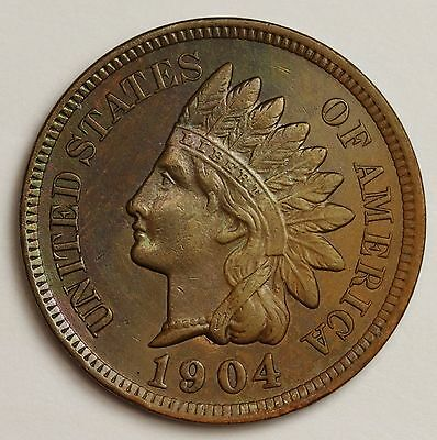 1904 Indian Head Cent.  Red Brown UNC.  101954