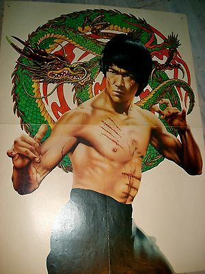 "Bruce Lee Enter the Dragon early '70s Magazine promo poster - appx 15"" x 20"""