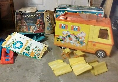 Vintage Mattel Barbie Country Camper and Pool Party