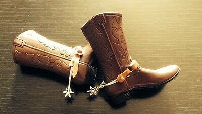 Custom Made 1/6 Scale Clint Eastwood Blondie Boots & Metal spurs Fit Hot Toys