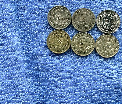 Australia Lot Of 6 Silver 6 Pence Coins Xf To Proof Lot Nr 12.95