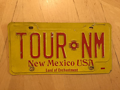 """New Mexico Sample License Plate """" Tour Nm """" Nm Tourism Welcome Visit"""
