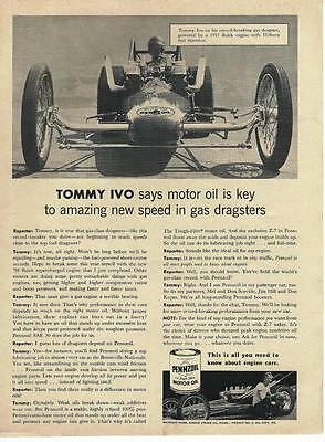 1959 Penzoil Ad/TV Tommy Ivo Dragster/Nailhead Buick/Hilborn