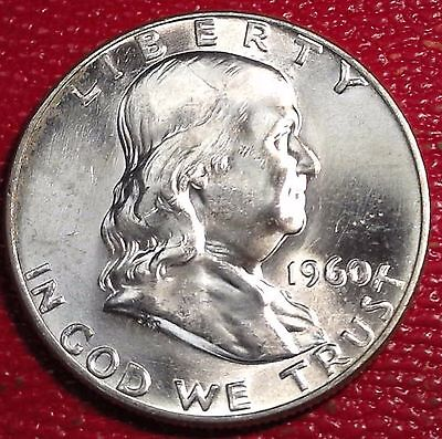 ***silver 50 Cents***1960 P Franklin Half Dollar Brilliant Uncirculated Bu