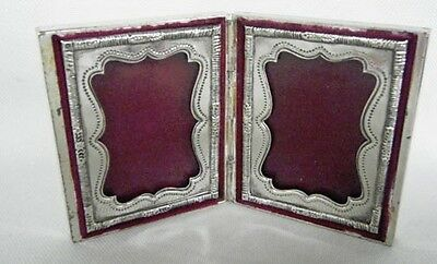 Folding Travel Picture Frame Silver Plate