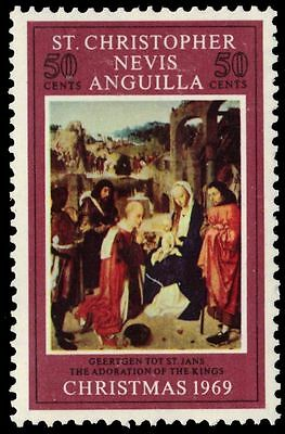 """ST. KITTS-NEVIS 203 (SG203) - """"Adoration of the Kings"""" by Jan Mostaert (pa61112)"""