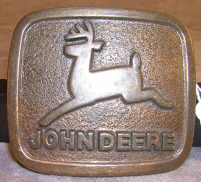 John Deere Leaping Deer Belt Buckle ~ Advertising
