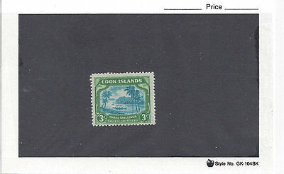 COOK ISLANDS: 3 sh 1945 (Sc 124), wmk 253, LH. Very nice coloring and centering