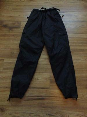 Rain Pants Men's Size Small Wetskins Black Water and Wind Proof