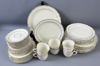 38 Pc. Lot Bernardaud Limoges Louis XV China Dinner Salad Bread Plates Cups