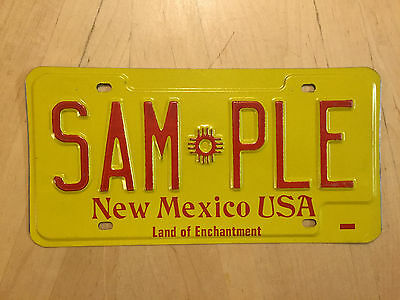 """Mint New Mexico 1980's  Auto License Plate  """" Sample """" Nm 00000"""