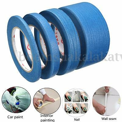 New 1 PC 6mm/12mm/20mm x50m UV Resistant Painters Painting Blue Masking Tape
