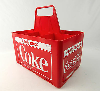 1979 Large Coke Family Pack French Canadian Red Plastic 6-Pack Carrier 64oz.