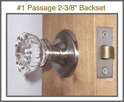 LOT of Five Fluted Crystal Glass Passage/Privacy Premium Knob Sets modern doors