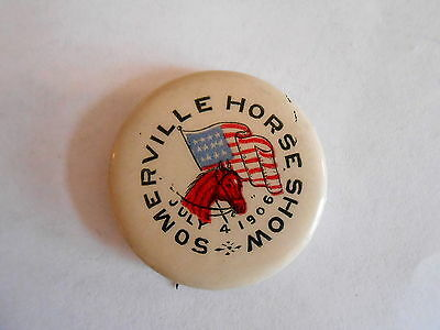 Vintage July 4th 1906 Somerville (Tennessee ?) Horse Show Souvenr Pinback Button