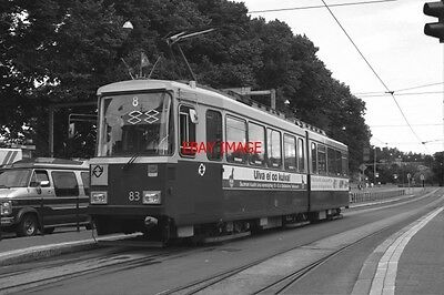 Photo  1995 Finland Helsinki Tram No 83 On Route No 8