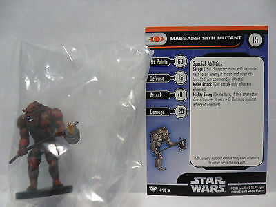 Massassi Sith Mutant,Champions Of The Force 14/60 Star Wars Miniatures COTF