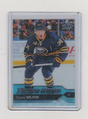 2016-17 Upper Deck Series 2 Young Guns Rookie Acetate  # 462  Casey Nelson