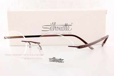 New Silhouette Eyeglass Frames FUSION 5477 6059 Satined Brown 5479  Unisex SZ 49