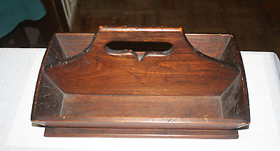 Antique Wood Untensil Knife Flatware Box