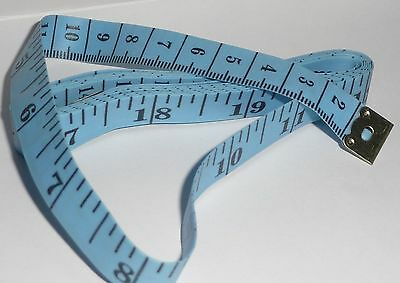 """150cm / 60"""" TAPE MEASURE Blue with Black Indicators NEW tailor sewing craft"""