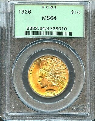 1926 $10 Indian Gold Eagle PCGS MS64 (8010)