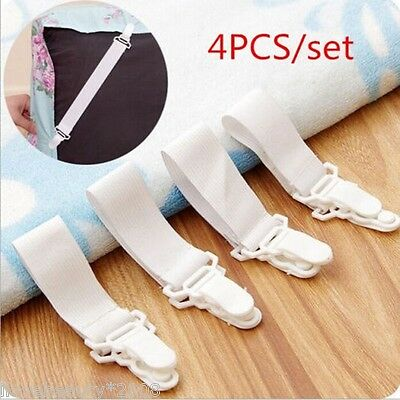 4pcs Bed Sheets Buckle Table Cloth Fitted Device Clip Slip-resistant Belt