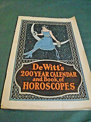 Vintage Dewitt's Pills 200 Year Calendar And Book Of Horoscopes