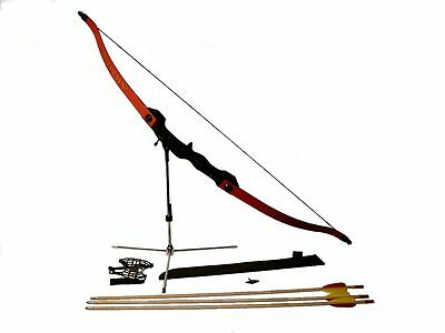COMPLETE YOUTH ARCHERY RECURVE BOW KIT arrows starter KIDS takedown green