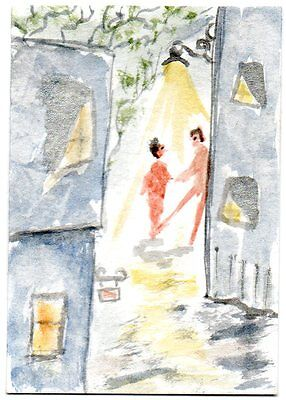 ACEO 'Naked Alley' - original watercolour painting by Adrian Appleby