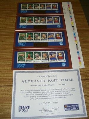 Aldernery Past Times Limited Edition Printed Sheet Postmarked Guernsey See Photo