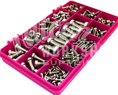 200 Assorted A2 Stainless M3 M4 M5 M6 M8 Low Head Socket Caps Bolt Screw Kit