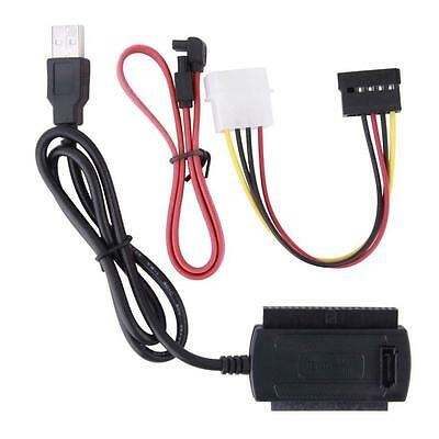 SATA/PATA/IDE to USB 2.0 Adapter Converter Cable for 2.5/3.5 Inch Hard Drive XU