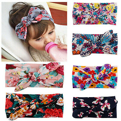 US Kids Girls Baby Headband Toddler Bow Flower Hair Band Accessories Headwear