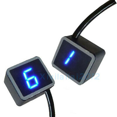 Blu LED Indicatore Digitale Contamarce Gear Indicator Per Moto