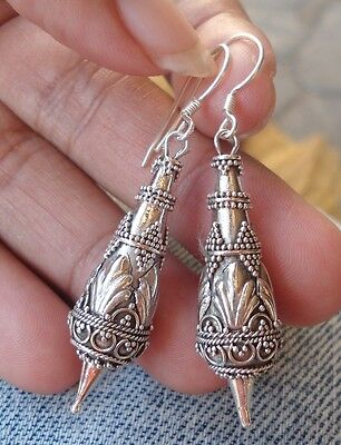 925 Sterling Silver-MAD59-Balinese Traditional Earring Dangle