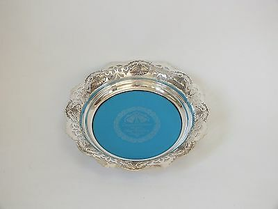 """VINTAGE EPNS SILVER PLATED Silver Anniversary Tray Plate Coaster 8.75"""""""