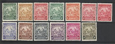 Barbados 1938-47 Short Set Up To 1/- Value Plus Shades Mint